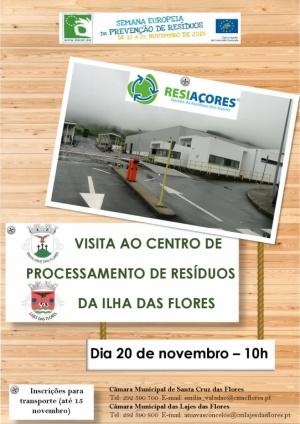 Visita ao Centro de Processamento de Resíduos dia 20 de novembro