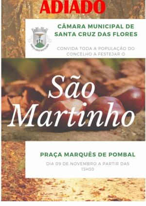 Comemorações do Dia de São Martinho adiado para dia 12 de novembro