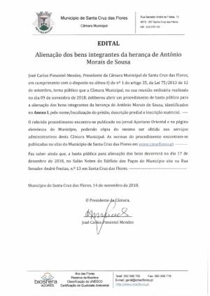 Alienação dos bens integrantes da herança de António Morais de Sousa