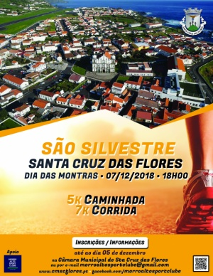 Inscrições Caminhada/Corrida São Silvestre dia 7 de dezembro