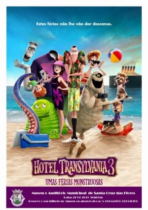 """Sessão de Cinema """"Hotel Transilvânia 3"""" dia 27 de janeiro pelas 16:00 no Museu e Auditório Municipal"""