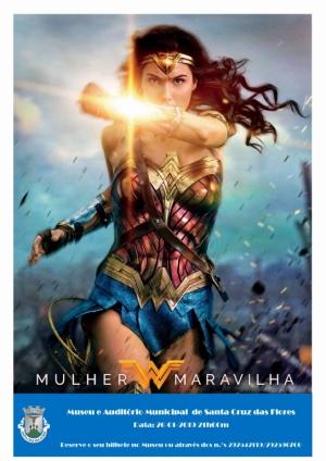 """Sessão de Cinema """"Mulher Maravilha"""" dia 26 de janeiro pelas 21:00 no Museu e Auditório Municipal"""