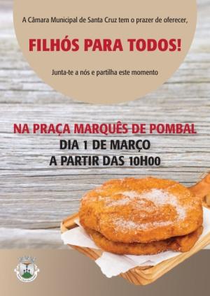 """""""Filhós para todos!"""" dia 1 de março a partir das 10:00h"""