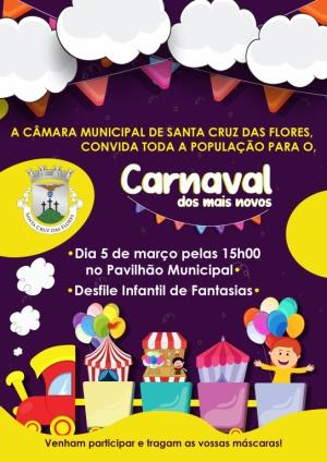 """Matiné """"Carnaval dos mais novos"""" dia 5 de março pelas 15h00"""