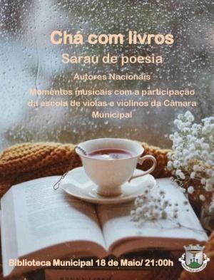 """Sarau de poesia """"Chá com Livros"""" dia 18 de maio"""