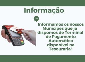 Câmara Disponibiliza ATM para Pagamento de Serviços